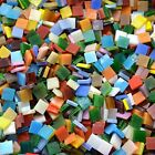 Lanyani 800 Pieces Mosaic Tiles Stained Glass Rainbow Squareopaque 11lb