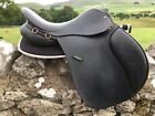 """17.5"""" Manor GP Saddle Medium Fit High Wither Very Good Condition Black"""