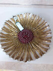 EFE Decorative 16 Glass Platter Bowl Gold White and Red Made in Turkey 16