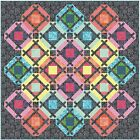 Maywood Studio Color Therapy Batiks Quilt Kit Pattern Top  Binding Fabric