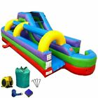 34L Rainbow Commercial Inflatable Water Slide  Slip n Slide Combo With Blower