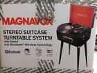MAGNAVOX STEREO SUITCASE TURNTABLE SYSTEM W STANDBLUETOOTHWIRELESS MD708