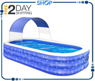 Inflatable Swimming Pool for Kids and Adults Full Sized Family Kiddie Blow up