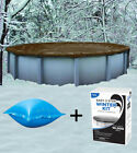 21 Round Above Ground Winter Pool Cover + 4x4 Air Pillow + Winterizing Kit