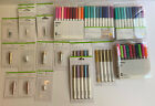 Cricut Accessory Lot Of Blades Embossing tips Metallic Markers Fine Point Pen