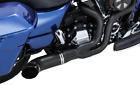 Python Black Rayzer Exhaust 2 Into 1 for 2017 2019 Harley Touring Models