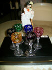 CRYSTAL CORDIAL LIQUOR GLASSES BOHEMIAN CUT 6 PIECES MADE IN GERMANY OR HUNGARY