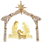 6 ft LED Outdoor Nativity Set with 190 Warm White Lights and Stakes