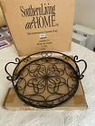 Jamestown Tray by Southern Living Brand new and in box Wrought iron and glass