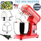 Pro Electric Food Stand Mixer 7 QT Tilt Head 6 Speed Kitchen Stainless Bowl Red