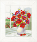 Embroidery Package Vervaco Stick Picture cross Stitch Patterns  Flower IN Vase