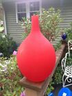 Vintage Murano Glass Vase Red Large with Label Italian