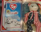 Very Rare Retired Beanie Babies 4th of July 1999 Spangle The Bear DOB 7/4/1999