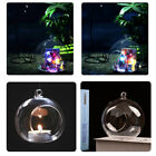 Empty Clear Open Glass Ball Hanging Ornament Wedding Xmas Decor Candle Baubles