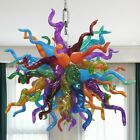 Chandelier Ceiling Fixture Hand Blown Murano Glass Pendent Lamp Home Dcor