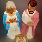Holiday Time 3 Piece Blow Mold Set Lighted 28 Tall Mary Joseph Baby Jesus