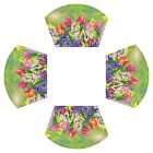 Flowers Spring Round Table Placemats Set of 4 Tulips Flowers Wooden Sunflower