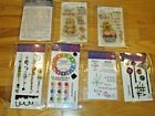 Lot of INKY ANTICS ART GONE WILD STAMPERS ANONYMOUS Clear Stamp LOT Unmounted