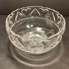 Tiffany  Co Crystal Heart Bowl 8 Round Clear Glass Large Serving Bowl Signed