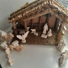 vintage nativity set with stable 15 piece