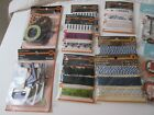 Scrapbooking Lot 40 Paper Embellishments Ribbon Stickers Buttons Halloween Fall