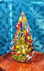 James Hayes Hand Tooled Colorful Art Glass Christmas Tree Signed