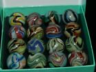 Box of Jabo Hybrid Marbles Made 4 28 2010 Some W Black Aventurine 922 4 KEEPERS