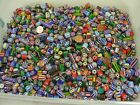 Two Pounds Assorted Shapes and Sizes India Handmade Chevron Glass Beads TLP 60