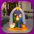 65 ft Pre Lit LED Airblown Nativity Starry Night Christmas Inflatable