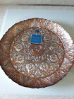 EFE GLASS COPPER AND SILVER PLATTER 15 HAND MADE TURKEY 100 GENUINE SILVER