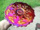 BEAUTIFUL CONTEMPORARY FENTON HOLLY PLATE IN RED Frank Fentons Birthday