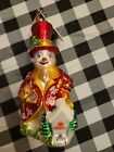 Christopher Radko HOME IN MY HEART Blown Glass Ornament Charity Snowman