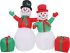 Blafly 5 ft Christmas Inflatable Snowmen Outdoor Holiday Yard Decorations Blow
