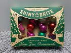 Vintage Lot of 12 Shiny Brite Small Glass Christmas Tree Ornaments 1 Bell Ball