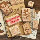 Custom Wooden Square Stamp Carved Rubber DIY Personalized Name Business Wedding