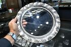 Pierced Vintage Silver Plate Glass 11 1 4 Footed Tray with 8 1 2 Glass insert
