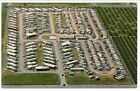 McALLEN TX Twin Palms Trailer Park Close Aerial View postcard