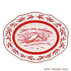 FITZ & FLOYD TOWN & COUNTRY LARGE TOILE PLATTER