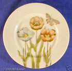 FITZ AND FLOYD PASTEL POPPY SALAD PLATE