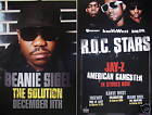 BEANIE SIGEL The Solution R.O.C. STARS Two Sided PROMO Poster JAY-Z Kanye West