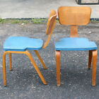(2) Vintage Thonet Molded Birch Plywood Frame Chairs