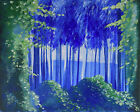 Secret Forest, Original Abstract Painting--20x16