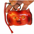 Real Leather Coin Change PursePersian Kitty Brown red