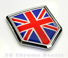 Great Britain Flag British Emblem Chrome Car Decal