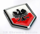 Poland Polski Polish Flag Emblem Car Chrome Decal