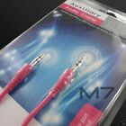 PINK AUXILIARY CABLE CORD for HTC PHONES JACK 35mm CAR AUDIO MALE AUX WIRE