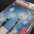BLACK AUXILIARY CABLE CORD for HTC PHONES JACK 35mm CAR AUDIO MALE AUX WIRE