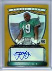 2007 Bowman Sterling Gold Ref AUTO Ted Ginn Jr RC 50