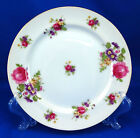Sango SAN28 Salad Plate 7.625 in. Pink Roses Purple Flowers Gold Occupied Japan