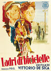 The bicycle thief Vittorio De Sica vintage movie poster 4